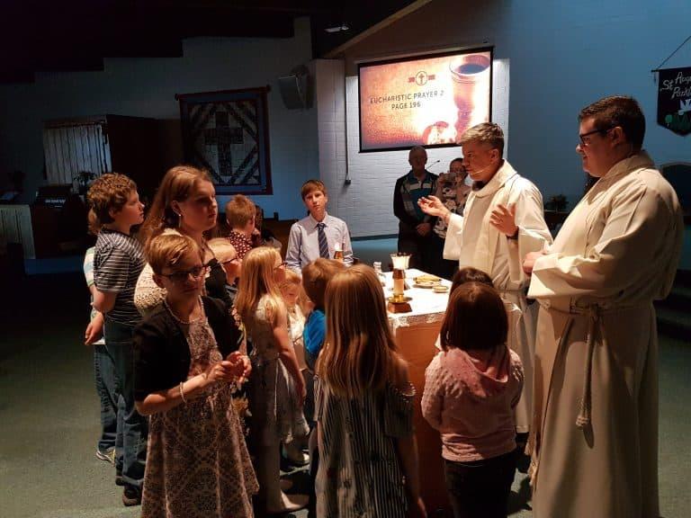 easter vigil 2017 - eucharist w kids